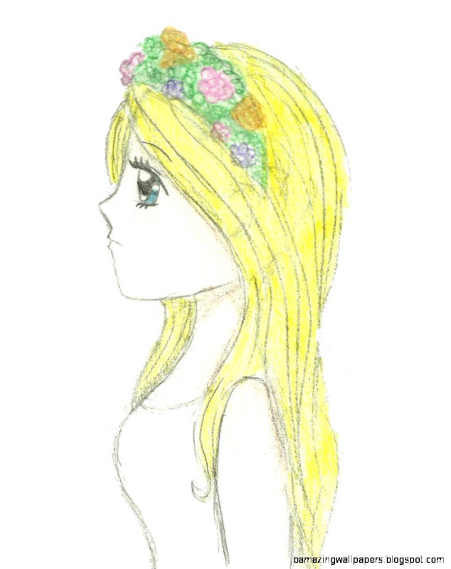 Girl With Flower Crown by slushee1 on DeviantArt