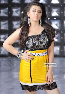 Hansika Motwani in a Strange Spicy Black an dYellow Skirt Top Tight fit Hansika Motwani