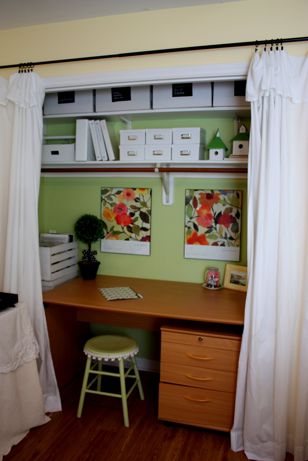The red chair blog closet office craft space part 1 Closet home office design ideas