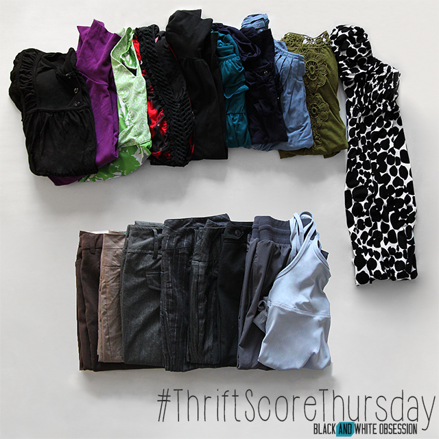 #thriftscorethursday Week 53 Clothes | www.blackandwhiteobsession.com