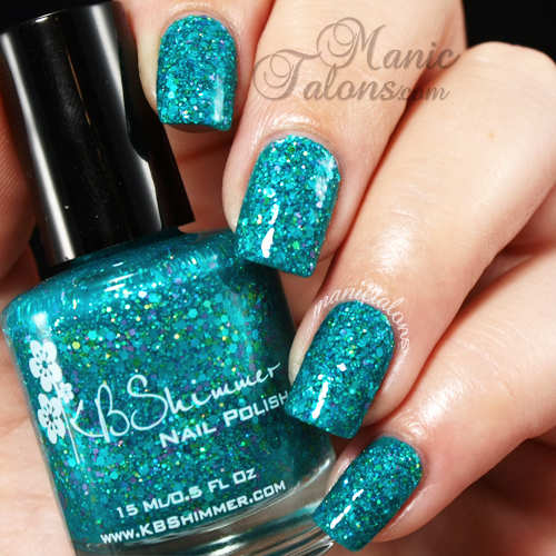 KB Shimmer She Twerks Out Swatch, Textured Polish