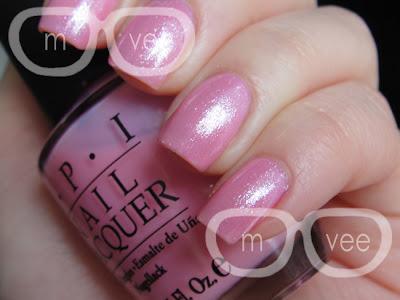 OPI pink layering