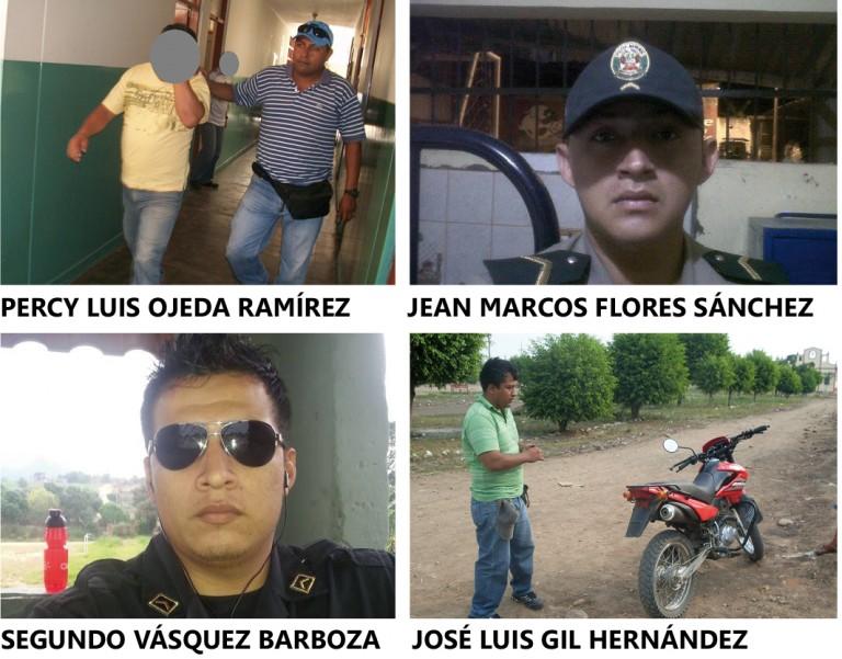 Intervienen a cuatro agentes policiales de Tarapoto sindicados de corrupción