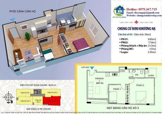Bán chung cư mini Khương Hạ  quận Thanh Xuân 56 m2 820 triệu