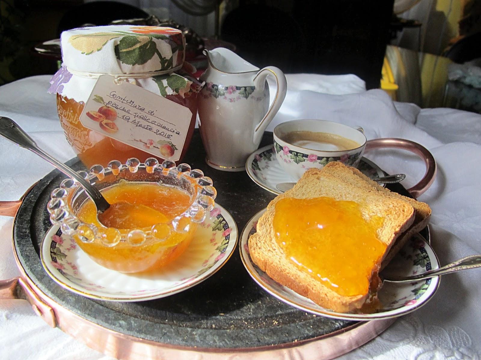 Confettura di pesche gialle e arance metodo Ferber