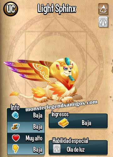 imagen de las caracteristicas del monstruo light sphinx