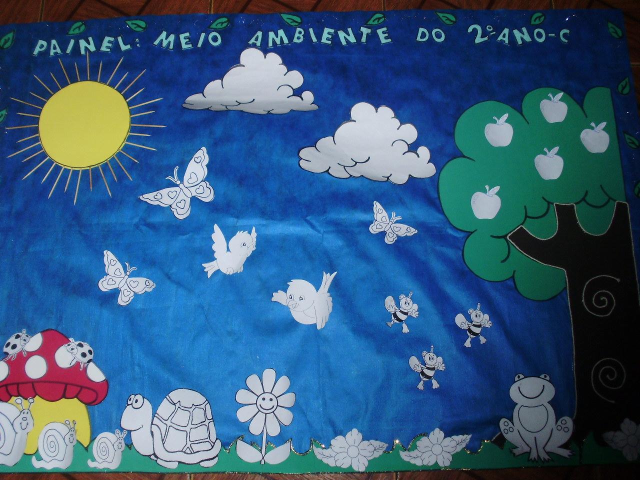 "Tia Gleici"": Painel meio ambiente"