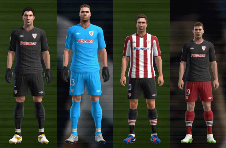PES 2012 Athletic 12 13 Kit Set by mario88