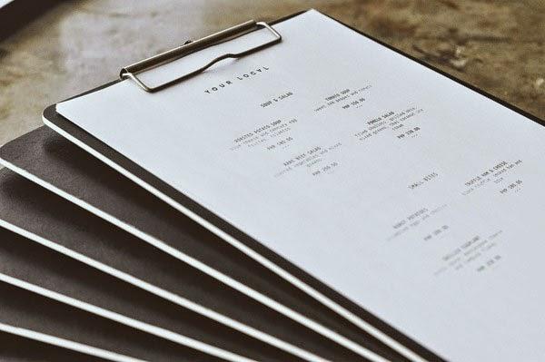 restaurant menu design inspiration