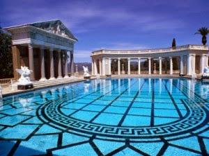 Hearst Mansion  San Simeon California USA