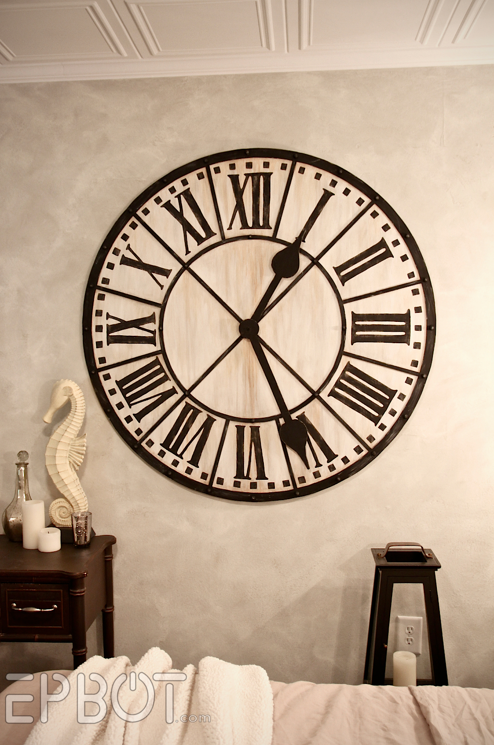 Diy Giant Tower Wall Clock With Oversized Clocks