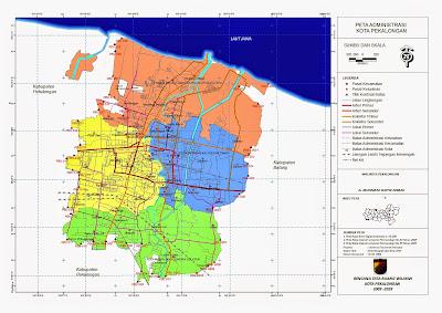 Peta Administrasi Kota Pekalongan