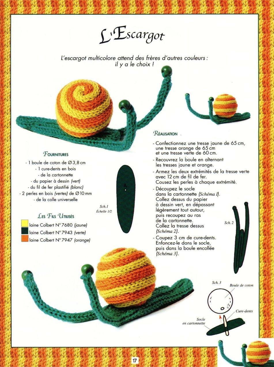 caracol em crochet