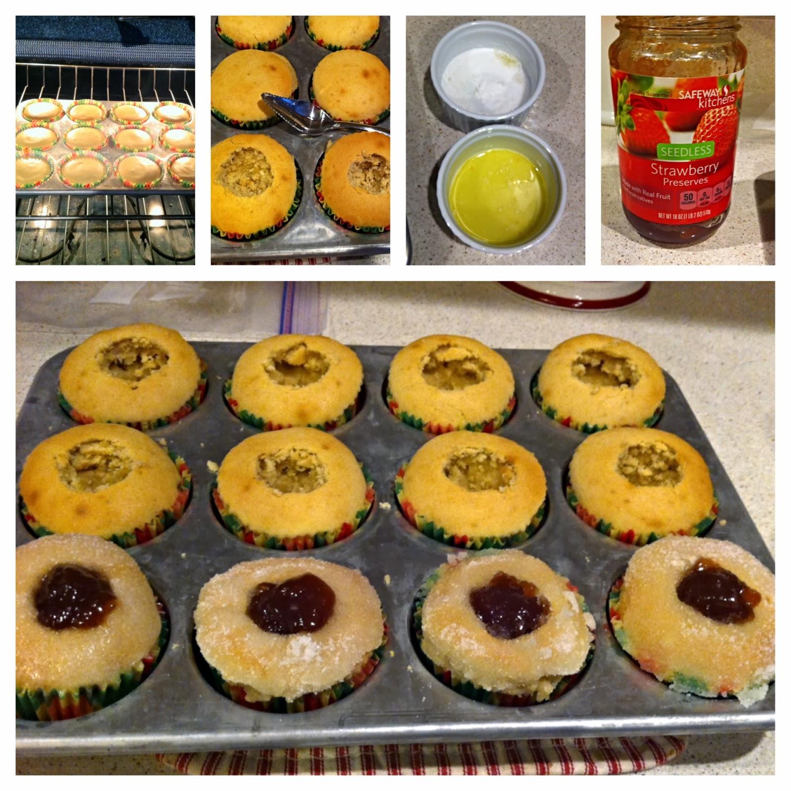 Strawberry filled Doughnut Muffin- Alohamora http://alohamoraopenabook.blogspot.com/