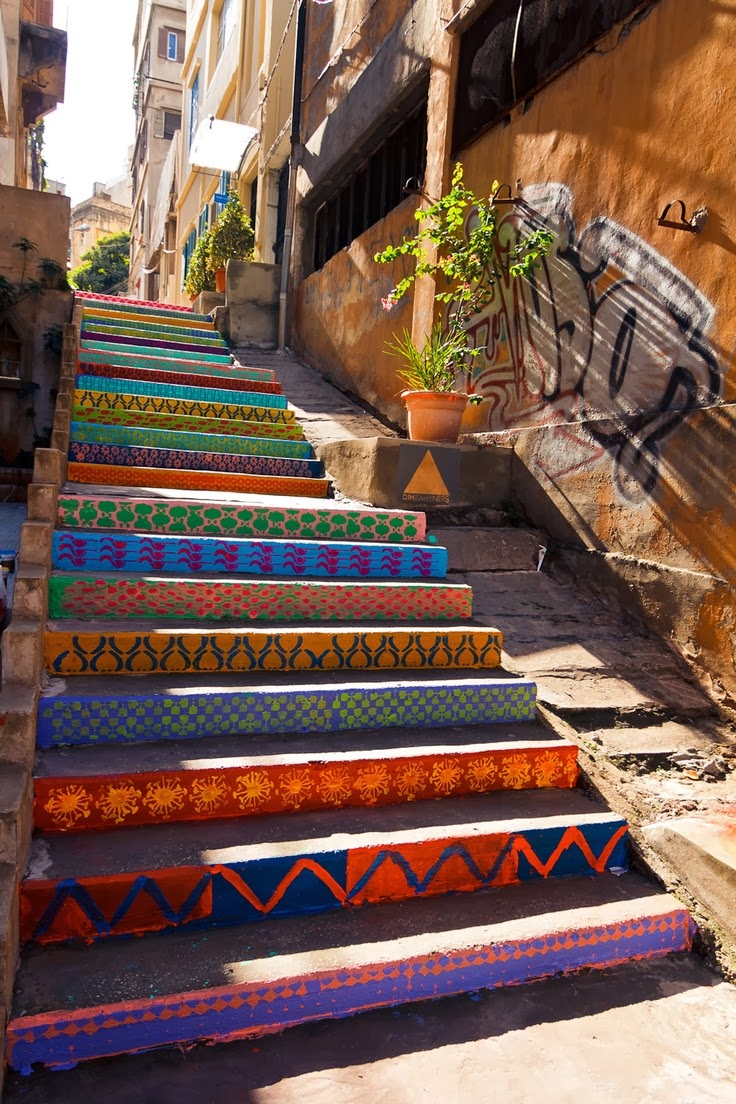 colored stairs design Beirut