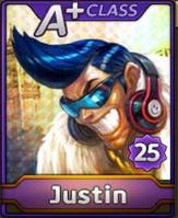 Karakter Justin Line Let's Get Rich