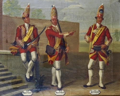 25th and 26th Regiments of Foot and 27th Inniskilling Regiment of Foot, Grenadiers, 1751