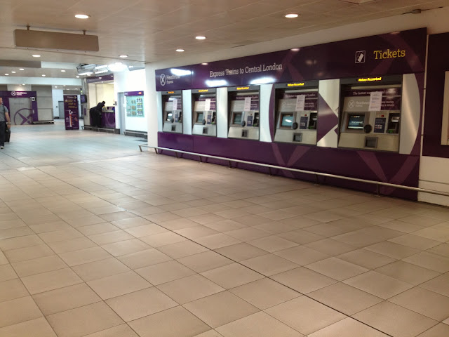 Heathrow Express Area inside Terminal 3 building
