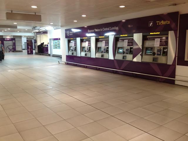 Heathrow Express Area inside Terminal 3 building