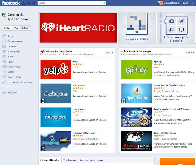 App Center de Facebook