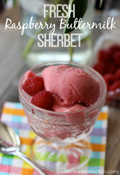 Berries and buttermilk make the perfect summertime combination in this Fresh Raspberry Buttermilk Sherbet!