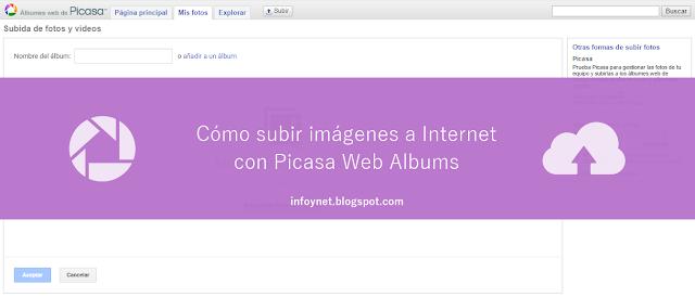 Cómo subir imágenes a Internet con Picasa Web Albums