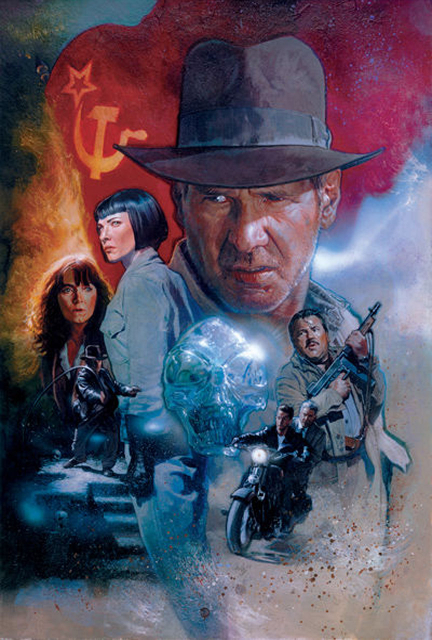 how to make indiana jones poster illustrator