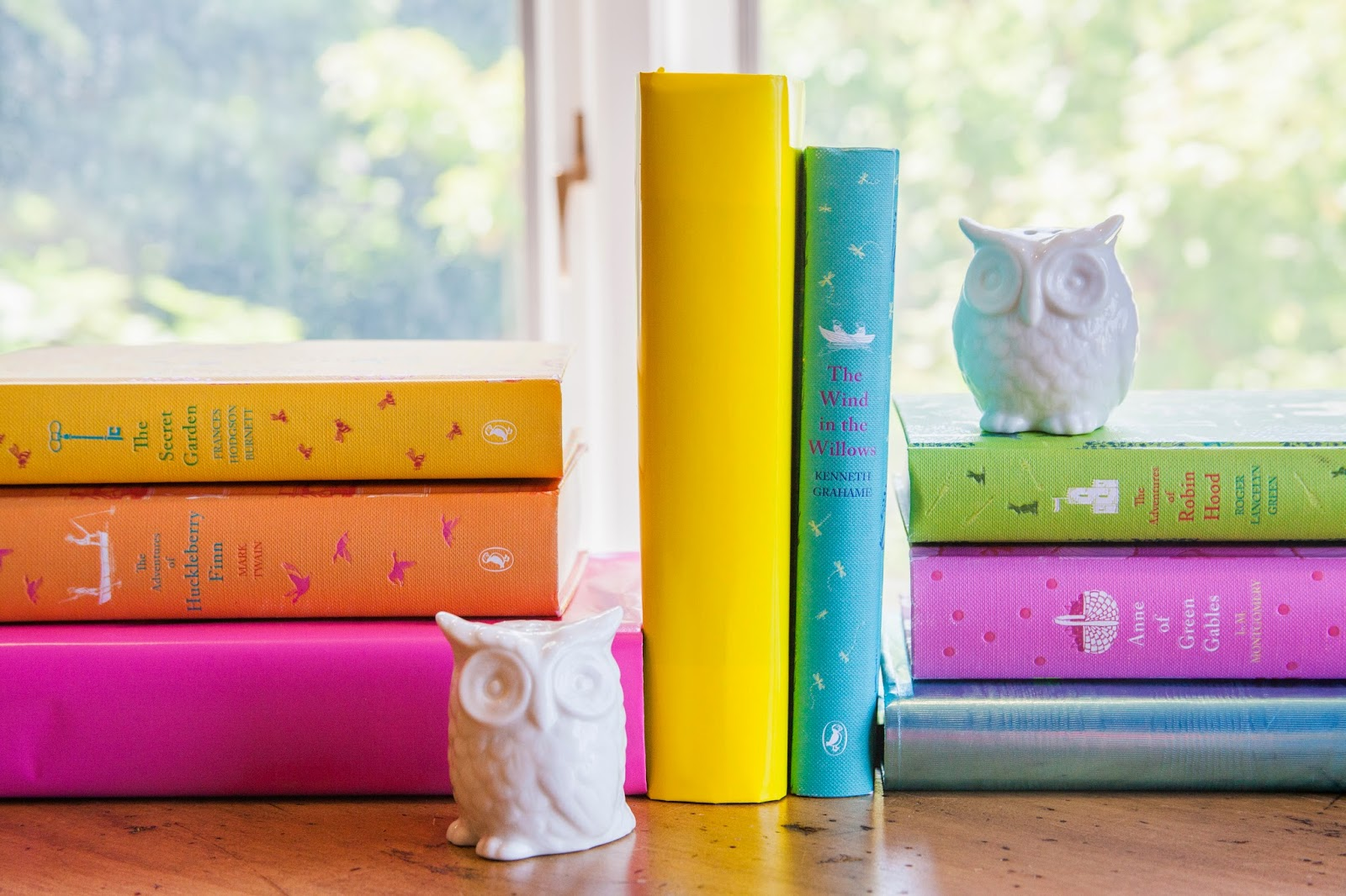Adding color to your bookshelves