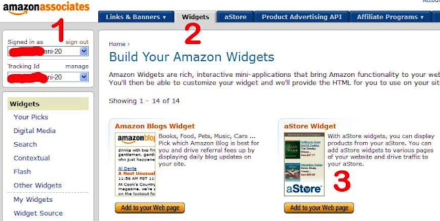 astore widget untuk blogger widget