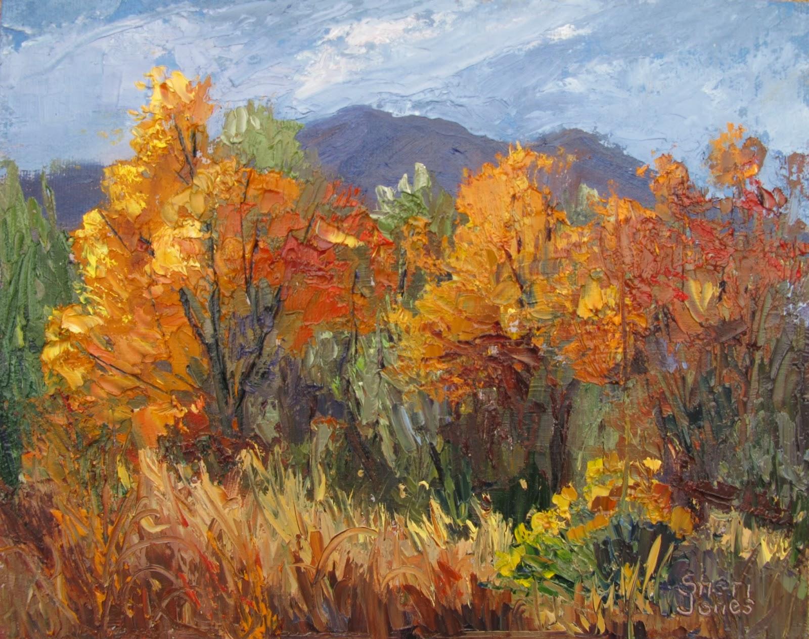 Autumn Landscape Oil Paintings Hot Girls Wallpaper