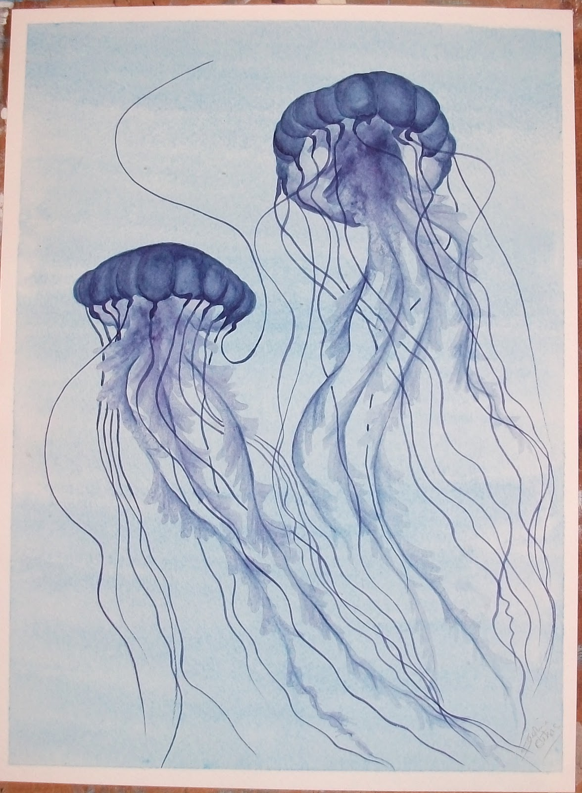 Uniqart: Blue Jellyfish No.9