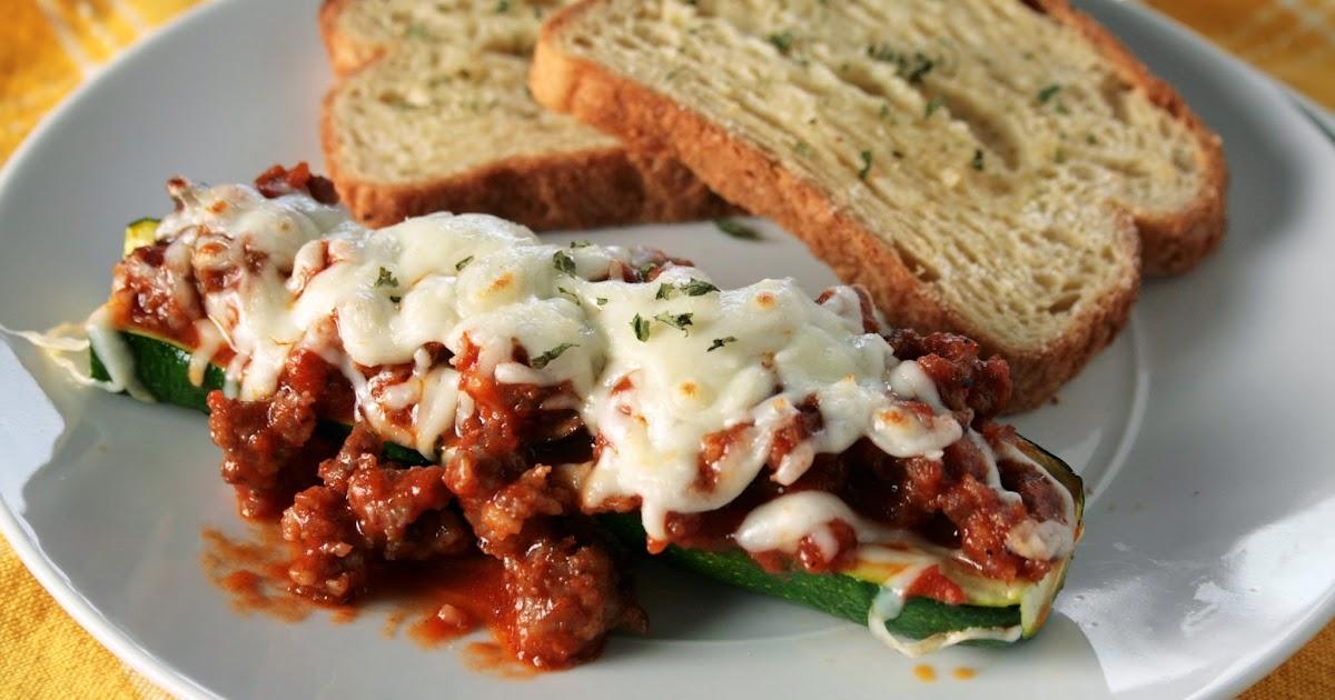Lazy Gluten Free: Italian Sausage Zucchini Boats