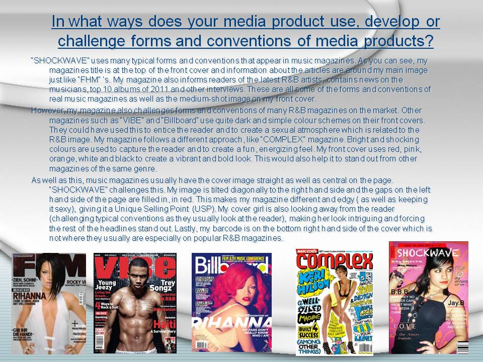 Media coursework-easy 10 points!! :)?