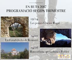 EN RUTA 2017. SEGON TRIMESTRE
