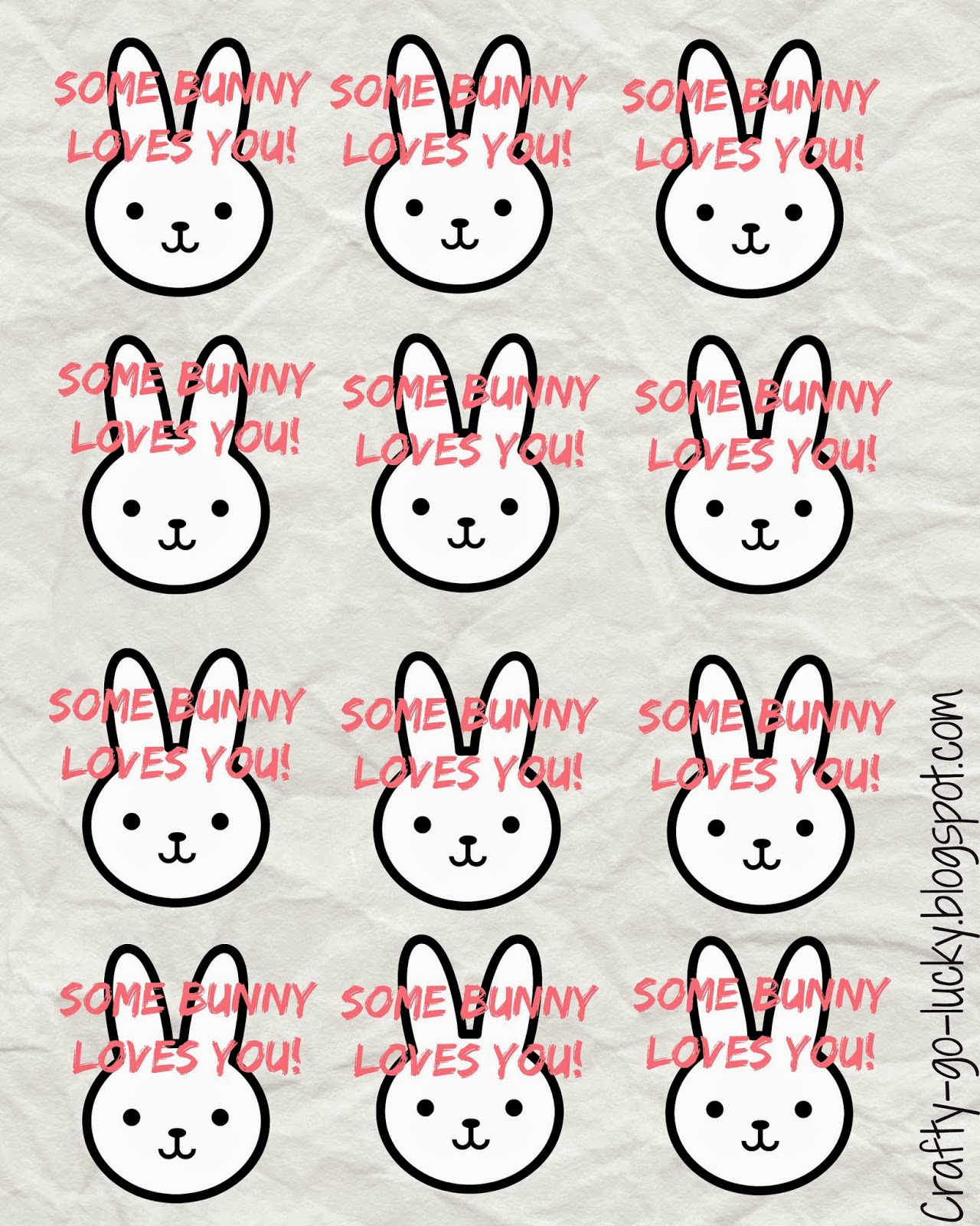 Some bunny loves you! FREE PRINTABLE treat/gift tags