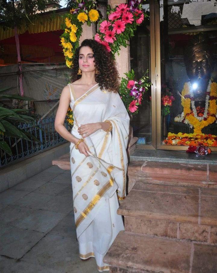 Actress Kangana Ranaut Saree Photos