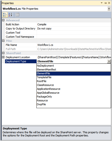 sharepoint 2010 state machine workflows with custom task