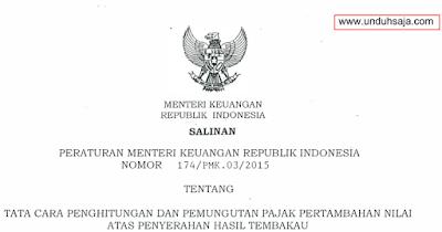PMK No 174 Tahun 2015