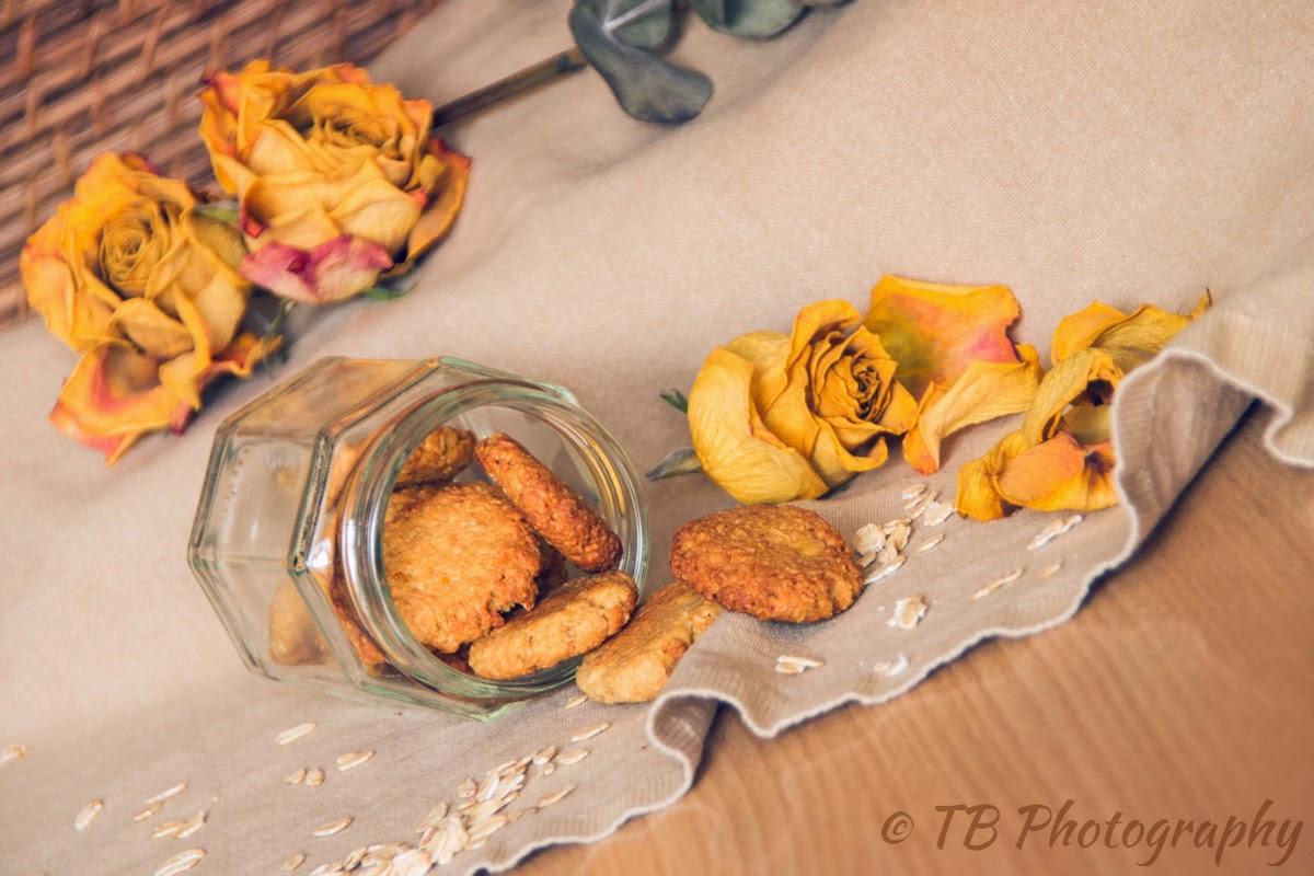 biscotti mandorle e fiocchi d'avena al profumo di limone