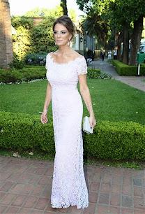 Nequi Galotti vestido lila de Claudio Cosano. Boda Esmeralda Mitre y Darío Lopérfido. 06/Dic/2014