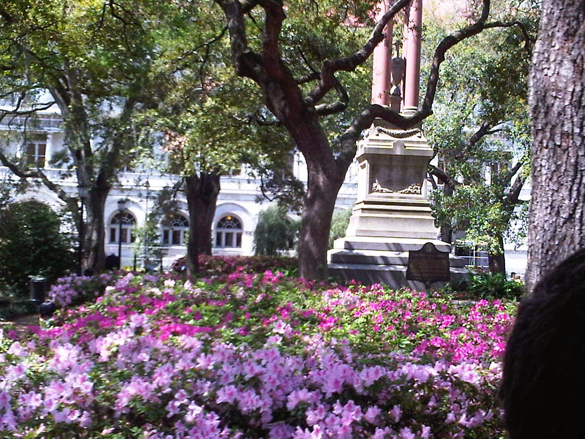 Historic district movie location in downtown Savannah GA