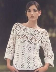 Modelos de blusas a crochet