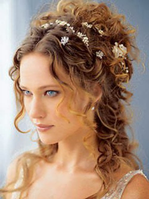 wedding hairstyles for curly hair WeddingHair