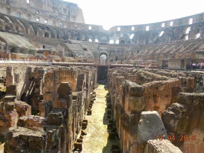 pe urmele gladiatorilor la Colosseum