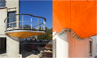 diseño balcón edificio