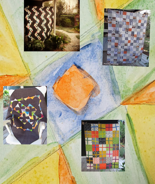 2013 End of Year Mosaic....Quilt projects by Marty Mason