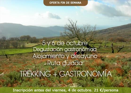 Oferta fin de semana en el Valle del Jerte:  TREKKING + GASTRONOMÍA