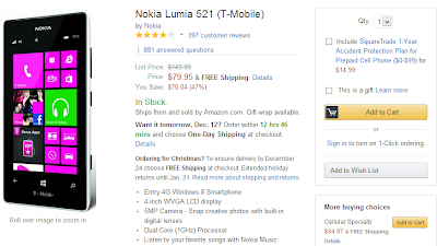 Nokia Lumia 521 Amazon Deal