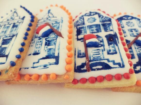 gestempelde oudhollandse huisjes