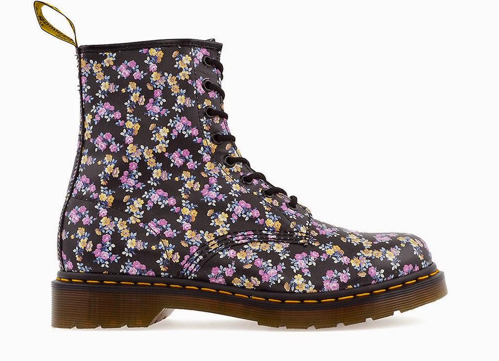 Dr. Marten Mini Tydee Floral Print Boots